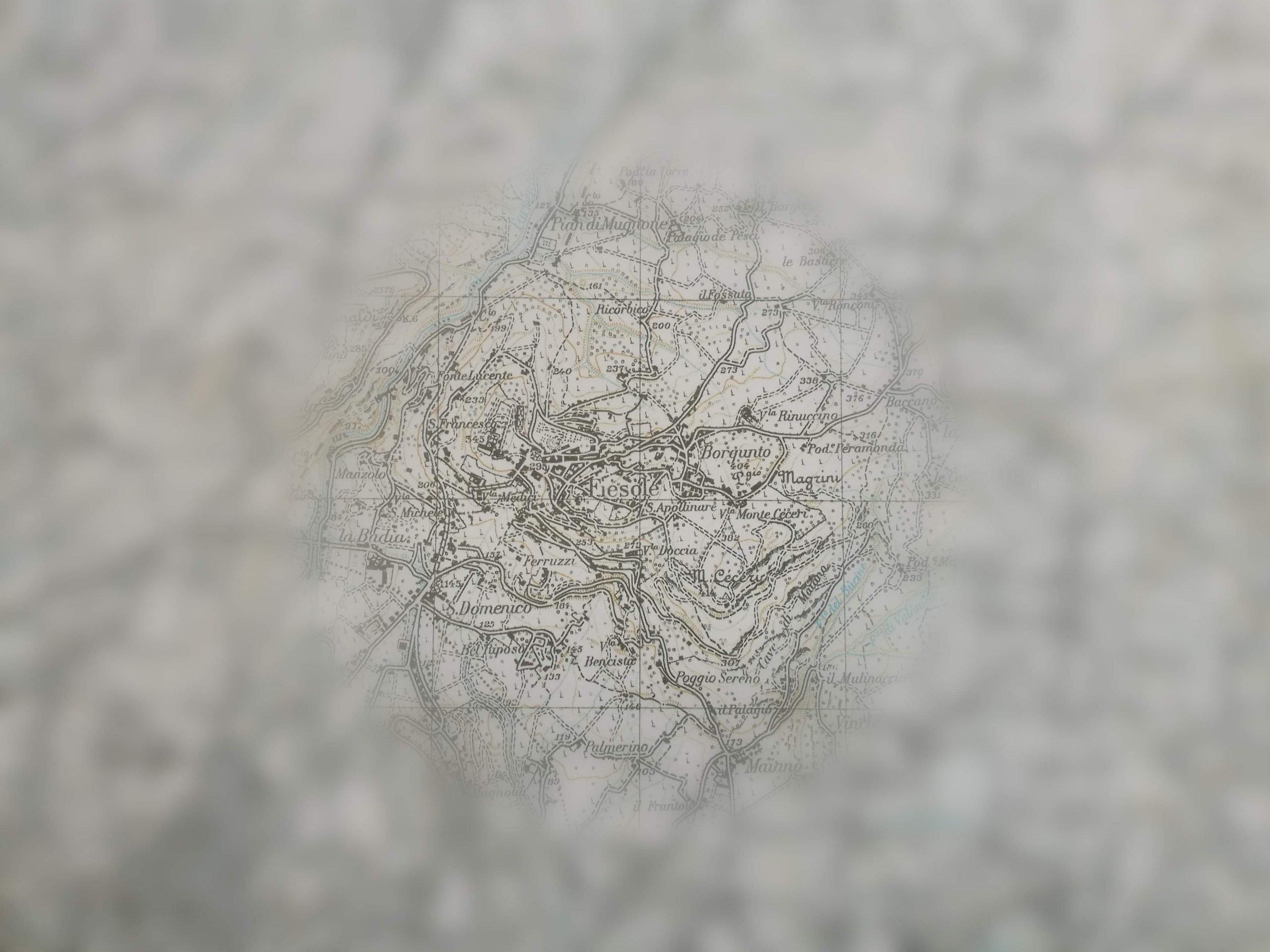 Carta geografica fi Fiesole